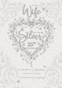Wife Silver Wedding Anniversary Card
